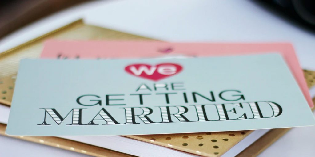A selection of getting married cards